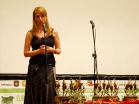 "Nevena Pramatarova, manager of the ""European Environment Festival"" Foundation, Closing Ceremony, 6 July 2008, ""H.N.D. Palaveev"" Community Cultural Center, Koprivstitsa"