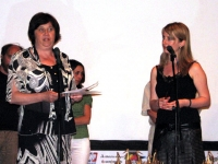 "Iskra Shipeva, Director of the Department of Museums, Koprivstitsa, Closing Ceremony, 6 July 2008, ""H.N.D. Palaveev"" Community Cultural Center, Koprivstitsa"