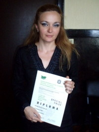 "Gena Traikova, journalist, bTV, Bulgaria receives the Special award of the International jury for her documentary ""Nylon Apocalypse or…"" for the complex featuring one the most serious ecological problems in Bulgaria"