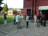 "Participants in the International Environment Festival ""Green wave – 21st Century"", the yard of the Old Renaissance School ""St. st. Kiril and Metodi"", Koprivstitsa"