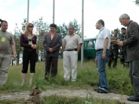 Official inauguration of the Festival Park by Volodya Zlatev, Secretary of the Consultative Consul of the State Agency for Forestry and Lubomir Tzekov, Mayor of Koprivstitsa Municipality (center), 5 July, 2008, Koprivstitsa