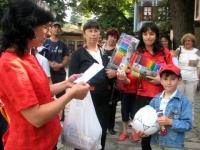 """Награждаване на победителите в Конкурса за Детска рисунка от ръководството на община Копривщица, 5 юли, 2008, площад """"20-ти април"""", Копривщица"""