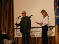 "Antoniy Donchev (Director of the ""Green Wave – 21st Century"" European Environment Festival) and Nevena Pramatarova (Manager of the European Environment Festival Foundation)"