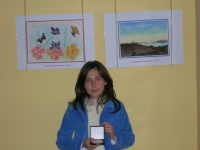Alexandra Stoitzeva, 12, winner of the First prize in Children's drawing competition