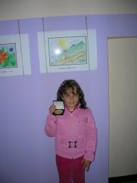 Ангелина Грозева, 8 години, носител на Втора награда в Конкурса за детска рисунка