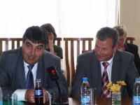 """Official inauguration of the International Workshop: """"Social and Legal Dimensions of Climate Change. Raising Media and Public Awareness"""" by Chavdar Georgiev (Deputy Minister, Ministry of Environment and Watet) and Ass. Prof. Dr. Stefan Yurukov (Deputy Minister, Ministry of Agriculture and Forestry) address the participants of the Workshop"""